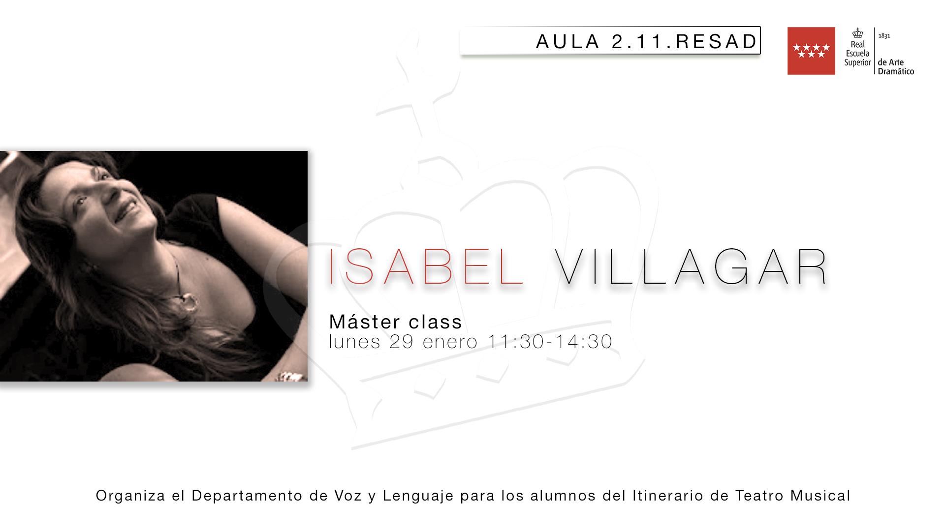 Isabel Villagar: Profesora de Canto